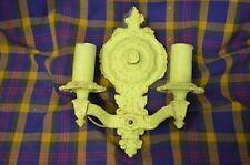 Vintage Cast Metal DOUBLE ARM WALL SCONCE w/Hardware-UNIQUE