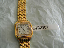 Premier Designs IT'S ABOUT TIME gold crystal watch RV $98 FREE ship
