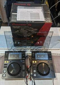 2 x Pioneer XDJ-700 Decks With Protective Dust Covers & Original Boxes & Manuals