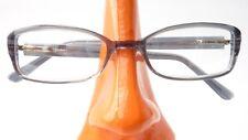 Kleine Brillenfassung Gestell grau mit Flexbügel Damen Plastik rechteckig Gr S