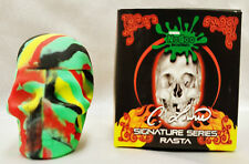 Rasta NoGoo Skull Screw Top NonStick Silicone Container Take Icky out of Sticky