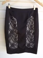 Review Women's Black & White Skirt with Lace - Size 8