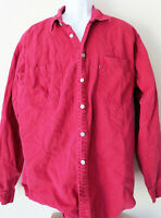 Vintage Distressed RED TAB LEVI'S Strauss BUTTON SHIRT Long Levis Sleeve XL