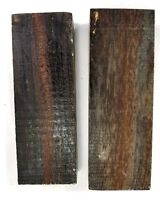 "2 Pcs. Ziricote 6"" x 1.5"" x 1""  Wood Knife Handle Material Blanks Scales"