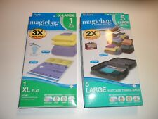 Magic Bag Instant Space Travel Bags 1- XL and 4-Large Storage Bags