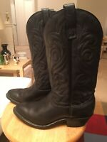 Palomino 0630 Black Men's US7.5E Leather USA Western Cowboy Boots Shoes