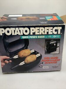 Potato Perfect by MR Coffee Quick Potato Baker Cooker Oven Electric Vintage