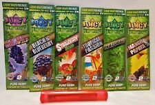6 Pks Juicy Jays Sampler Hemp Wraps 2 Per PK & 1 Buddies Torpedo Tube No Tobacco