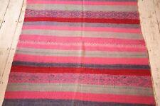 Peruvian Handwoven Frazada Rug / Throw / Blanket / Multicoloured / Alpaca Wool