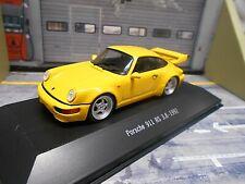 Porsche 911 964 RS 3.8 CARRERA 1992 Jaune Yellow ATLAS by SPARK 1:43
