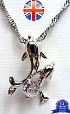 Collana con ciondolo delfino - 925 argento sterling di alta qualità antiallergico regalo