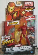 "Extremis Iron Man MARVEL LEGENDS BAF TERRAX 7"" Action figure Hasbro 2011 NISB"