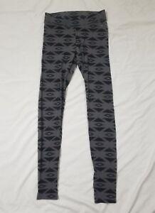 PINK Victoria's Secret Black Gray Geometric Print Yoga Leggings Size X-Small