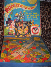 MICKEY MOUSE ~ VINTAGE UK 1959 BOARD GAME ~ ROCKET TO THE MOON.
