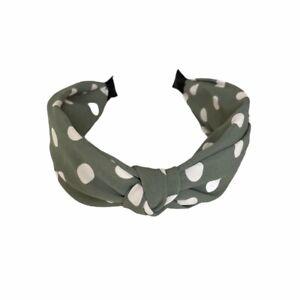 Last True Angel Green Polka Dot Hairband