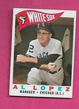 1961 TOPPS # 222 WHITE SOX AL LOPEZ  MANAGER EX+ CARD (INV# A8186)
