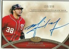 2012 Topps Tier One Mike Morse Washington Nationals Autograph Auto Card
