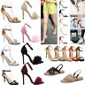 New Women Ladies Summer Ankle Strap Peep Toe Sandals Court Shoes High Heel Shoes