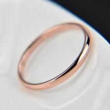 1PC Simple Titanium Steel Ring Wedding Band Women Men Jewelry Gift Size 3-10