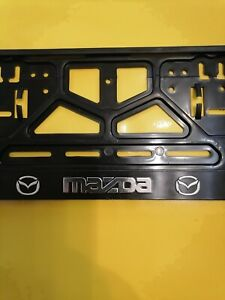"""""""MAZDA"""" Euro License Plate Tag Holder Mount Adapter Bumper Frame Bracket"""