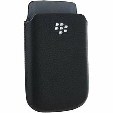 BLACKBERRY TORCH 9800 9810 OEM BLACK SLIM POCKET POUCH LEATHER CASE COVER SLEEVE