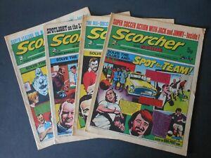 4 1974 SCORCHER & SCORE Comics 2nd/9th & x2 23rd Feb (Rare? Production error)