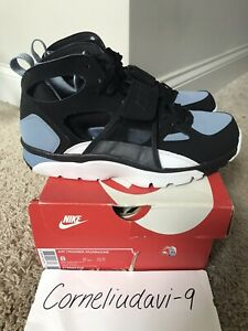 2015 Nike Air Trainer Huarache Black Cool Blue Gray Size 8