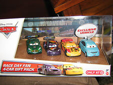 DISNEY CARS 2 RACE DAY FAN 4-CAR GIFT PACK TARGET EXCLUSIVE ALLOY HEMBERGER
