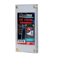 (25) Ultra Pro 4 Screw Screwdown Recessed Sports Card Holder PVC FREE SHIPPING