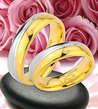 2 Ringe Trauringe Eheringe Partnerringe  Gold Platiert  GRAVUR GRATIS  JE59
