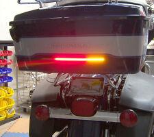 """H-D Tour Pak 14.7"""" Run/Brake/Turn LED Light Bar & Wiring Harness - Smoked Lens"""
