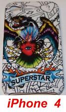 """Coque TPU Pour iPhone  4 Design ED Hardy """"SUPERSTAR"""""""