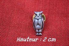 Insigne en étain représentant une chouette perchée (100% étain)Mode pin,'s