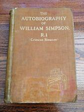 The Autobiography Of William Simpson R.I.
