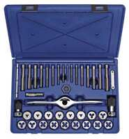 Tap and Die Set,40 pc,Carbon IRWIN HANSON 1835091