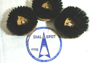 3 Electrolux  Rug Shampoo (Black Soft) Brushes  w/ Dial A Spot Guide