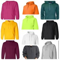 Hooded Plain Sweatshirt Men Women Pullover Hoodie Fleece Cotton Blank New S-3XL