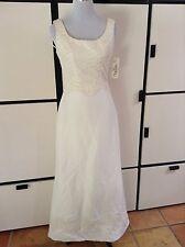 NWT Oleg Cassini Ivory Beaded Tank Sleeveless Wedding Dress Gown Elegant Sz 8!