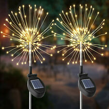 120 Led Solar Powered  Starburst Light Firework Lamp Garden Plant Path Light