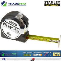 Stanley FatMax Xtreme 8M PRO Metric Tape Measure NEW MODEL Fat Max 8Mtr Metre