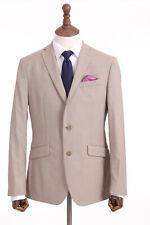 Mens Beige Suit Pierre Cardin 100% Wool Tailored Fit Cruise 40R W34 L31