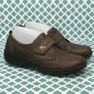 Clarks Collection Womens Slip On Brown Leather Size 8 M