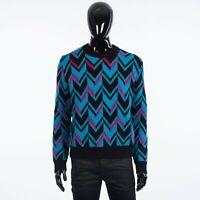 BERLUTI 1320$ Herringbone Knit Sweater In Multi Color Wool & Mohair Blend