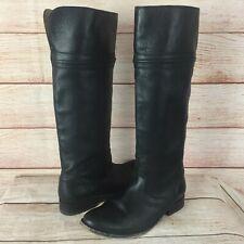 Frye Melissa Trapunto Black Leather Knee High Boots Sz 8 B 76442