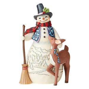 "Heartwood Creek - 21cm/8.3"" Snowman & Deer"