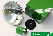 "Lucas LUB383 Motorcycle Headlamp 7"" RHD + Pilot for Triumph BSA Norton Velocette"