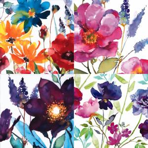 4 x Single Paper Napkins/3PLY/33cm/Decoupage/Summer Flowers/Collage