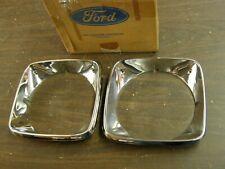 NOS OEM Ford 1974 1975 1976 Gran Torino Elite Headlight Bezels Doors