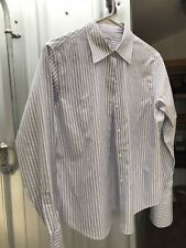 Brooks Brothers Women's Fitted Dress Shirt 10 Petite, Blue And White Stripe