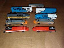 1989 Galoob Micro Machines Train Lot Locomotive Caboose Rio Bullet Train Lines